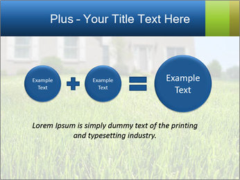 House And Green Lawn PowerPoint Template - Slide 75