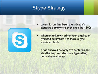 House And Green Lawn PowerPoint Template - Slide 8