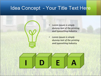House And Green Lawn PowerPoint Template - Slide 80