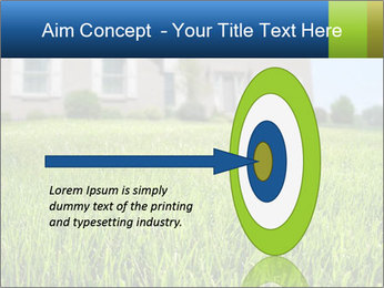 House And Green Lawn PowerPoint Template - Slide 83