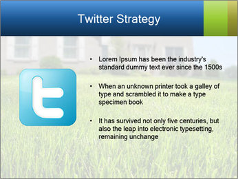 House And Green Lawn PowerPoint Template - Slide 9