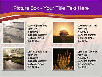 Sunset In Wheat Field PowerPoint Template - Slide 14