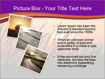 Sunset In Wheat Field PowerPoint Template - Slide 17