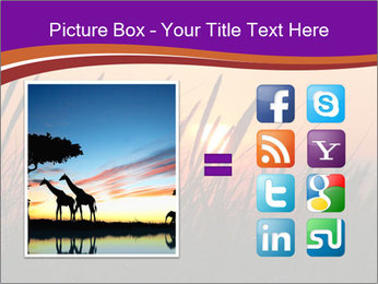 Sunset In Wheat Field PowerPoint Template - Slide 21