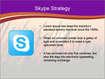 Sunset In Wheat Field PowerPoint Template - Slide 8