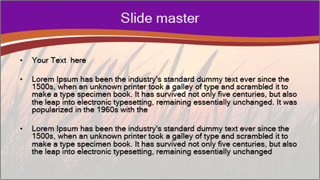 Sunset In Wheat Field PowerPoint Template - Slide 2