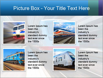 Modern high speed train PowerPoint Template - Slide 14