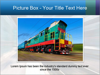 Modern high speed train PowerPoint Template - Slide 15