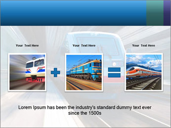 Modern high speed train PowerPoint Template - Slide 22