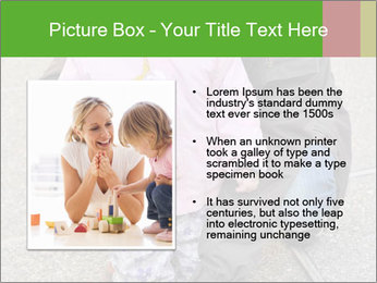 Mother and daughter playing outdoors PowerPoint Template - Slide 13