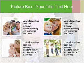 Mother and daughter playing outdoors PowerPoint Template - Slide 14