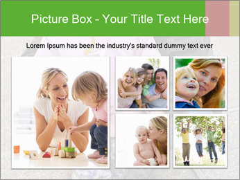 Mother and daughter playing outdoors PowerPoint Template - Slide 19