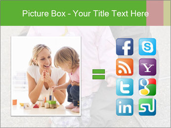 Mother and daughter playing outdoors PowerPoint Template - Slide 21