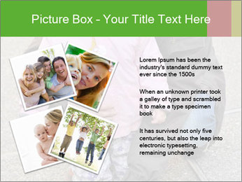 Mother and daughter playing outdoors PowerPoint Template - Slide 23