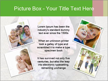 Mother and daughter playing outdoors PowerPoint Template - Slide 24