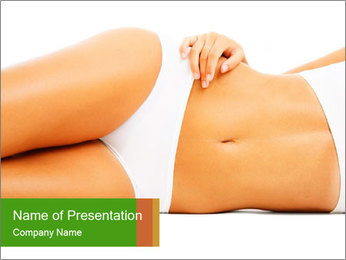 Beautiful female body PowerPoint Template