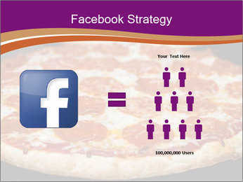 Two pepperoni pizzas in a line on a black stove PowerPoint Template - Slide 7