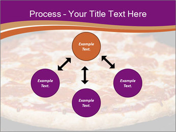 Two pepperoni pizzas in a line on a black stove PowerPoint Template - Slide 91