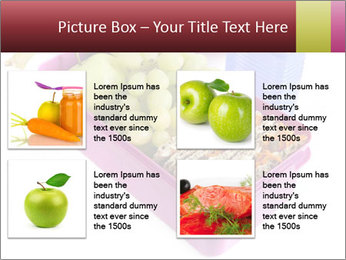 Healthy lunch in a bright pink lunch box PowerPoint Template - Slide 14