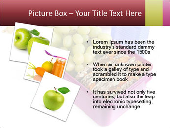 Healthy lunch in a bright pink lunch box PowerPoint Template - Slide 17