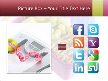 Healthy lunch in a bright pink lunch box PowerPoint Template - Slide 21