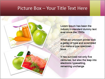 Healthy lunch in a bright pink lunch box PowerPoint Template - Slide 23