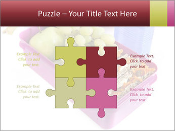 Healthy lunch in a bright pink lunch box PowerPoint Template - Slide 43