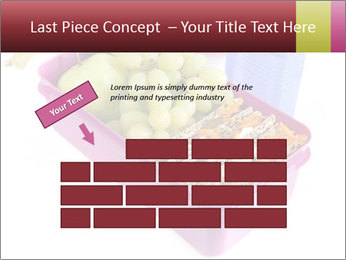 Healthy lunch in a bright pink lunch box PowerPoint Template - Slide 46
