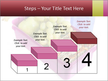 Healthy lunch in a bright pink lunch box PowerPoint Template - Slide 64