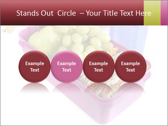 Healthy lunch in a bright pink lunch box PowerPoint Template - Slide 76