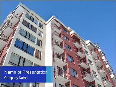 Apartment building. New house. Real Estate. PowerPoint Template