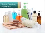 Assorted personal hygiene products PowerPoint Template