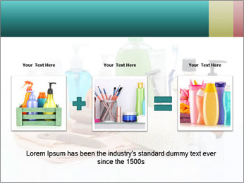 Assorted personal hygiene products PowerPoint Template - Slide 22