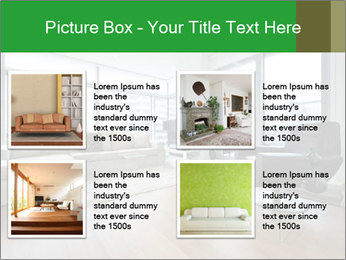 Contemporary living room with designer furniture PowerPoint Template - Slide 14
