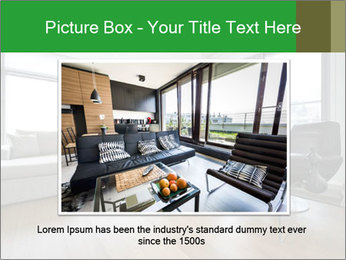 Contemporary living room with designer furniture PowerPoint Template - Slide 16