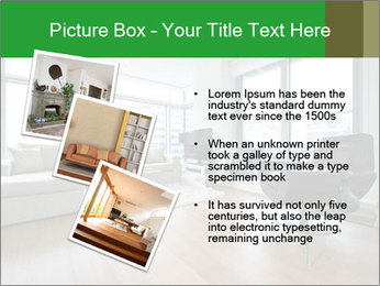 Contemporary living room with designer furniture PowerPoint Template - Slide 17