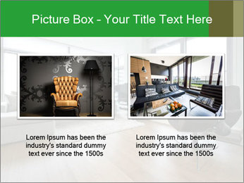 Contemporary living room with designer furniture PowerPoint Template - Slide 18