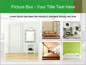 Contemporary living room with designer furniture PowerPoint Template - Slide 19