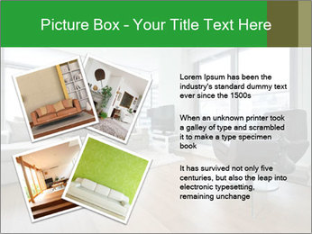 Contemporary living room with designer furniture PowerPoint Template - Slide 23