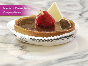 Chocolate and raspberry tart PowerPoint Template