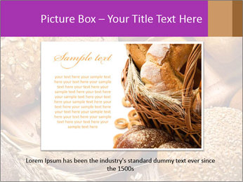 Assortment of baked bread on wood table PowerPoint Template - Slide 16
