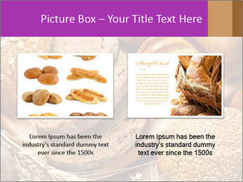 Assortment of baked bread on wood table PowerPoint Template - Slide 18