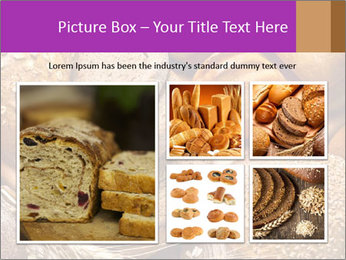 Assortment of baked bread on wood table PowerPoint Template - Slide 19