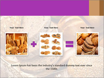 Assortment of baked bread on wood table PowerPoint Template - Slide 22