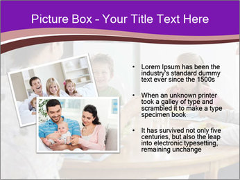 Family eating dinner at round table, in kitchen PowerPoint Templates - Slide 20