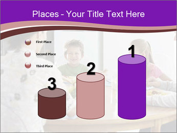 Family eating dinner at round table, in kitchen PowerPoint Templates - Slide 65