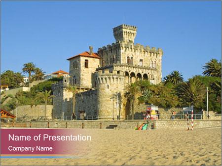 Estoril castle near Lisbon, Portugal PowerPoint Templates