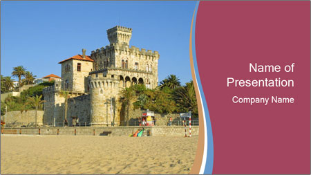 Estoril castle near Lisbon, Portugal PowerPoint Template