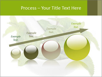 Mortar with mint isolated PowerPoint Template - Slide 87