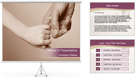 Hand together love family sign PowerPoint Template